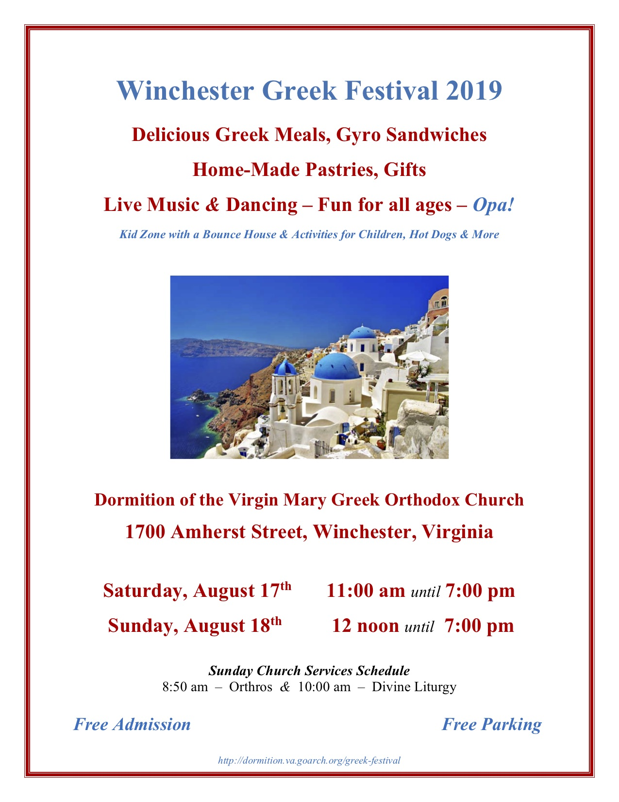 Winchester Greek Festival | Dormition of the Virgin Mary